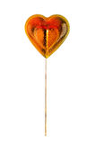 Sugar heart on a stick. Royalty Free Stock Images