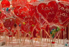 Sugar hearts love Stock Images