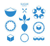 Sugar. Icon set Royalty Free Stock Image