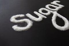 Sugar Inscription On Table branco fotos de stock royalty free