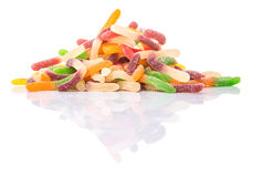 Sugar Jelly Candy Strips Pile VI Royalty Free Stock Photography