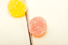 Sugar jelly fruit candy Stock Images