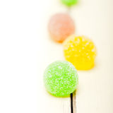 Sugar jelly fruit candy Stock Photography