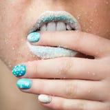 Sugar lips Royalty Free Stock Photography