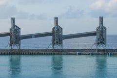 Sugar Loading Towers in Bridgetown port, Barbados. stock photography