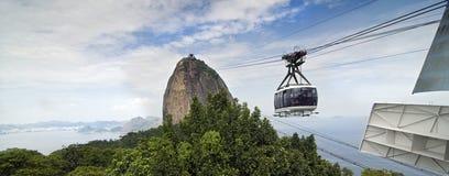Sugar Loaf berg - Brasilien Arkivfoto