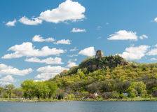 Sugar Loaf Bluff. In Winona, Minnesota Royalty Free Stock Photos