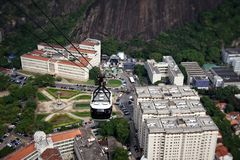 Sugar Loaf cable car in Rio de Janeiro Royalty Free Stock Image