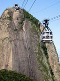 Sugar Loaf and his cable car Royalty Free Stock Image