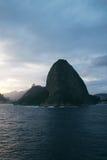 Sugar Loaf i Rio de Janeiro, Brasilien Fotografering för Bildbyråer