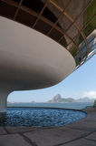 Sugar Loaf and MAC. (Contemporary Art Museum) - Rio de Janeiro, Brazil royalty free stock photography