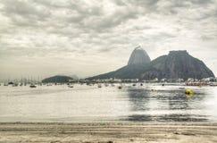Sugar loaf in the mist. Sugar loaf in Rio de Janeiro, Brazil Stock Photo