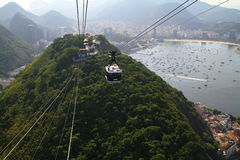 Sugar Loaf Mountain Cable Car Stock Images