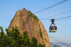 Sugar Loaf Mountain Cable Car - Rio de Janeiro Arkivbilder