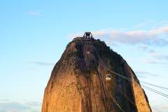 Sugar loaf mountain cable car. Sugar Loaf mountain cable car, in Rio de Janeiro, Brazil Royalty Free Stock Photography