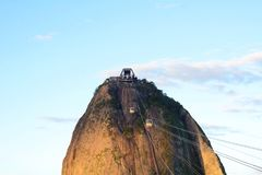Sugar loaf mountain cable car. Sugar Loaf mountain cable car, in Rio de Janeiro, Brazil Stock Image