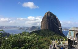 Sugar Loaf Mountain cable car (Pão de Açúcar), Rio de Janeiro, Brazil Stock Image