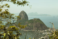 Sugar Loaf Mountain from Corcovado, Rio Royalty Free Stock Image