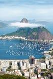 Sugar Loaf Mountain i Rio de Janeiro Arkivfoton