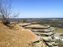 Sugar Loaf mountain. Photo taken from the top of Sugar Loaf mountain near Heber Springs, Arkansas Royalty Free Stock Image