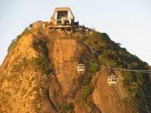 Sugar Loaf mountain in Rio de Janeiro. Sugar Loaf mountain in Rio. Note the climbers on the mountain Royalty Free Stock Photo