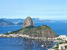 Sugar Loaf Mountain in Rio de Janeiro, Brazil. South America Royalty Free Stock Image