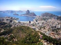 Sugar Loaf Mountain und Rio de Janeiro Cityscape, Brasilien Lizenzfreie Stockfotografie