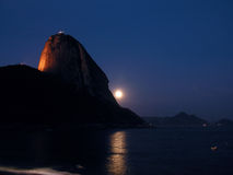 Sugar-Loaf at night. Rio de Janeiro - Brazil Stock Images