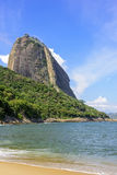 Sugar Loaf and Red Beach. View of Red Beach and Sugar Loaf hill in Rio de Janeiro Stock Images