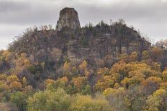 Sugar Loaf Rock In Autumn Stock Photo