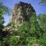 Sugar Loaf Rock - Winona, Minnesota Photographie stock