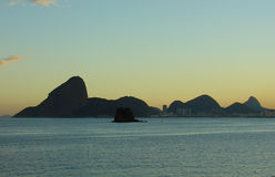 The Sugar Loaf on the sunset. In rio de janeiro, Brazil Stock Photography