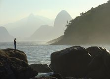 Sugar-loaf view. In Rio de janeiro, Brazil Royalty Free Stock Photo