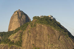 Sugar Loaf. View of Sugar Loaf from Pasmado the lookout for Botafogo Stock Photography