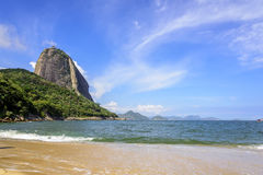 Sugar Loaf. View of Red Beach and Sugar Loaf hill in Rio de Janeiro Royalty Free Stock Photo