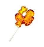 Sugar Lollipop in Form des Hahns Lizenzfreies Stockfoto
