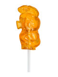 Sugar lollipop made in the shape of pig Stock Photography