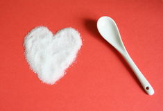 Sugar and love Stock Image