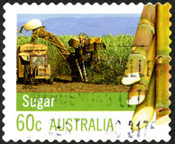 Sugar Making Australian Postage Stamp Royalty-vrije Stock Foto