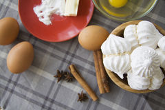Sugar meringue Stock Photos