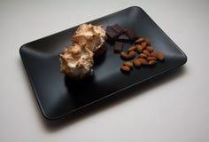 Sugar meringue with nuts Royalty Free Stock Image