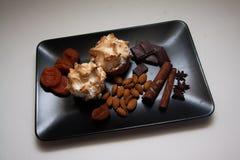 Sugar meringue with nuts Stock Image