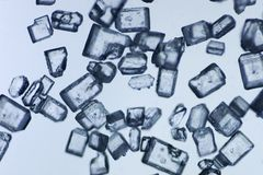 Sugar micro. Magnification about 140 times Stock Photo