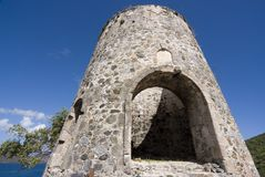 Sugar Mill. Remains of Sugar Mill on St. Johns Island, United States Virgin Islands Royalty Free Stock Photos