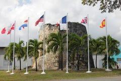 Sugar Mill Flags stock afbeeldingen