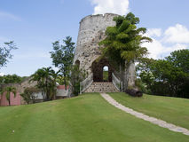 Sugar Mill i St Croix Royaltyfria Bilder