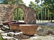 Sugar Mill Ruins. Built in the 19th century and once part of the Cruger-dePeyster Plantation, Sugar Mill Ruins is a 17 acre historic site that contains ruins of stock image