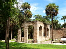 Sugar Mill Ruins. Built in the 19th century and once part of the Cruger-dePeyster Plantation, Sugar Mill Ruins is a 17 acre historic site that contains ruins of royalty free stock image