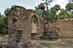 Sugar Mill Ruins. Built in the 19th century and once part of the Cruger-dePeyster Plantation, Sugar Mill Ruins is a 17 acre historic site that contains ruins of royalty free stock photo
