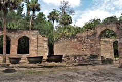 Sugar Mill Ruins. Built in the 19th century and once part of the Cruger-dePeyster Plantation, Sugar Mill Ruins is a 17 acre historic site that contains ruins of stock images